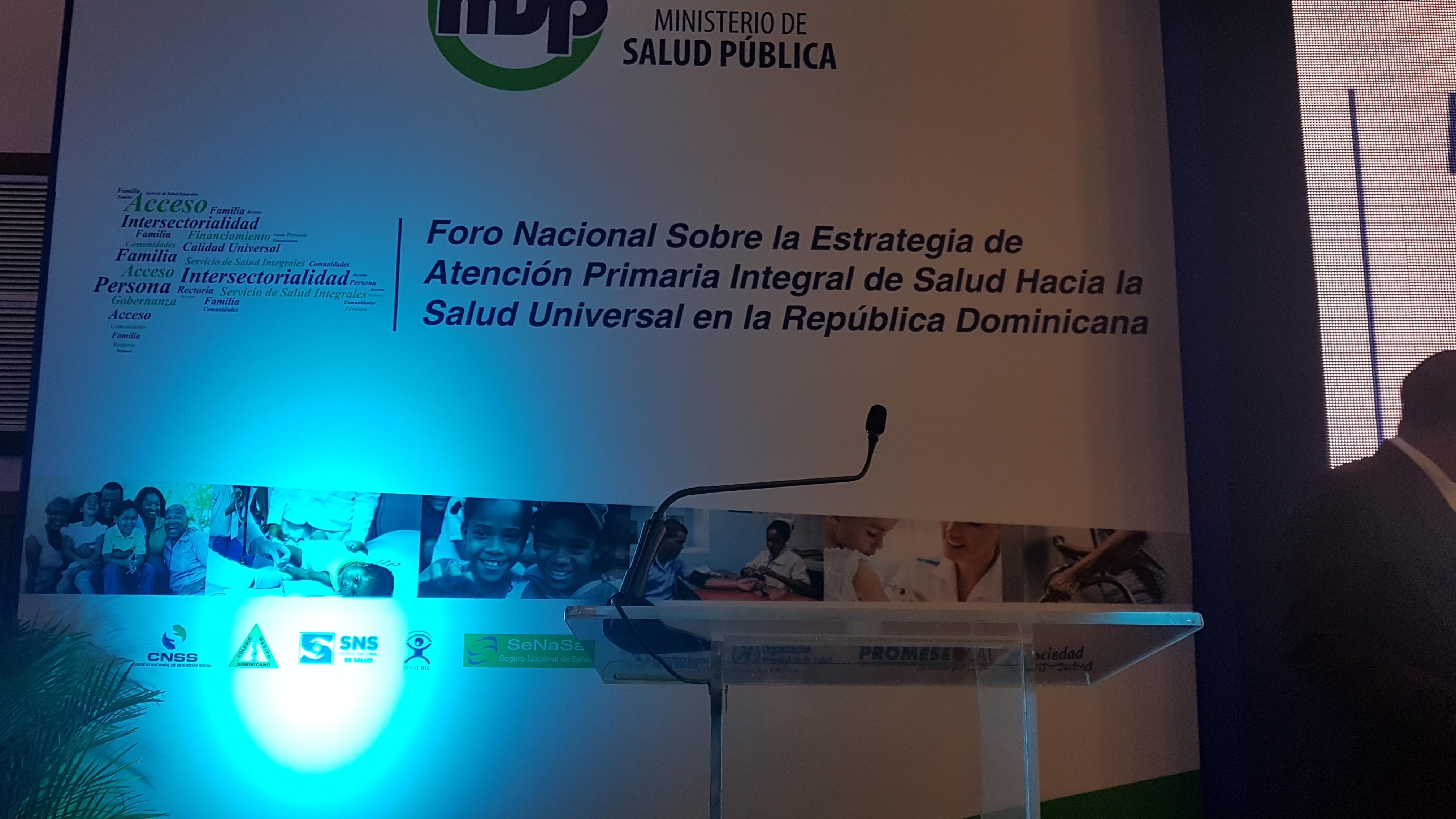 El SRS El Valle participa en Foro Nacional sobre Estrategia de Atención Primaria Integral en Salud
