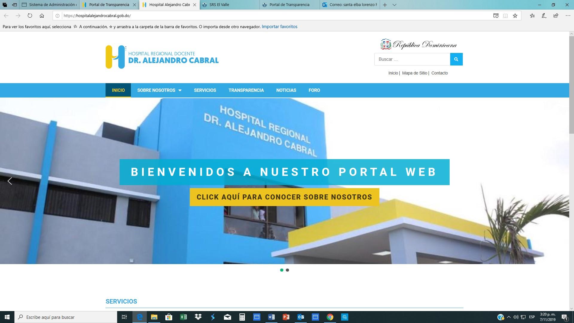 SRS El Valle pone en funcionamiento Portales de Transparencia Hospitales Priorizados
