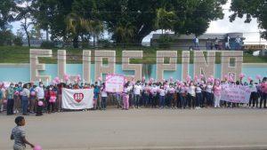SRS El Valle Realiza en Elías Piña caminata para concienciar sobre el cáncer de mama
